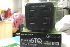 開箱:ProMini 6TQ 旅行充電器  6 個 USB 再加 QC 快充 最強係佢喇!