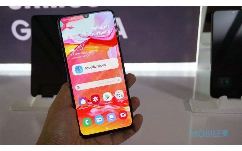 三鏡大電同樣夠晒玩,Galaxy A70 曼谷現場上手試!